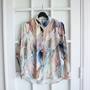 Blusa, top, long sleeve, pattern